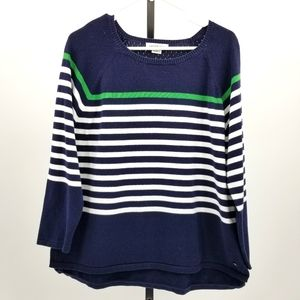 Liz Claiborne Brenton Stripe Cotton Sweater Top